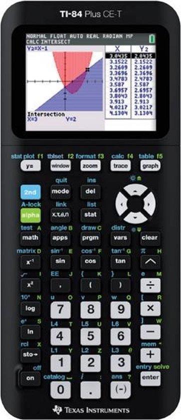 Afbeelding van Texas Instruments TI 84-Plus CE-T - Kleurenscherm / Zwart