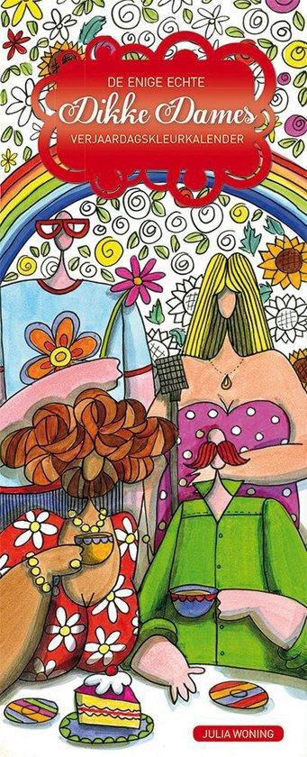 De enige echte Dikke Dames verjaardagskleurkalender