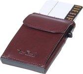 Tony Perotti Aluminium RFID portemonnee met kleingeldvak - Bordeaux