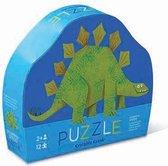 Crocodile Creek mini puzzel dinosaurus / Stegosaurus 12 stukjes