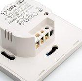 Sonoff Inbouw WiFi Wandschakelaar Smart Home | 2 Kanalen | 2 x 400W | Smart Switch met Touch of Telefoon App | maakt alles slim | geschikt voor Amazon Echo en Google Home