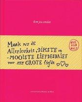 Boek cover Ik hou van jou omdat van Frederike Schouten (Hardcover)