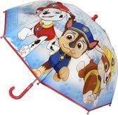 Transparante Paw Patrol Chase paraplu voor jongens 71 cm - Kinderparaplu