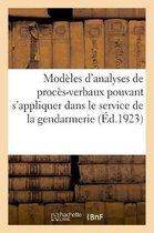 Modeles d'analyses de proces-verbaux pouvant s'appliquer a tous les cas