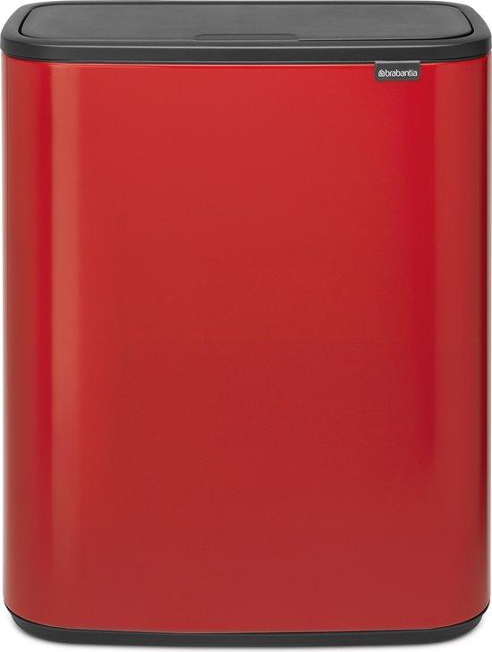 Brabantia Bo Touch Bin Prullenbak - 2 x 30 l - Passion Red