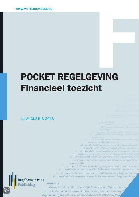 Regelgeving Financieel Toezicht 2013 - C.A Doets | Fthsonline.com