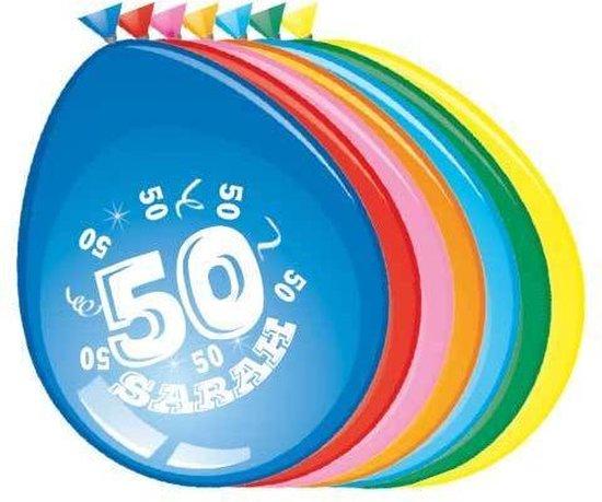 50 jaar ballonnen Sarah 8 stuks