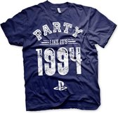 PLAYSTATION - T-Shirt Party Like It's 1994 - MARINE (M)