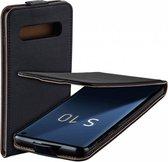 MP case Eco Lederen Samsung Galaxy S10 flip case zwart hoesje