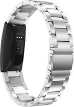 Metaal schakel bandje Zilver geschikt voor Fitbit Inspire (HR, 2)
