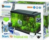 Superfish Aqua 70 LED Tropical Kit Aquarium - 70 L - Zwart - 58 x 45 x 28 cm