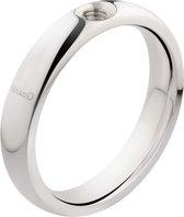 Melano twisted tracy ring - zilverkleurig - dames - maat 56