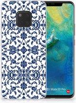 Huawei Mate 20 Pro Uniek TPU Hoesje Flower Blue