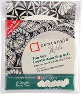 Sakura Zentangle Zendala tile set 15 (15 ronde tiles)