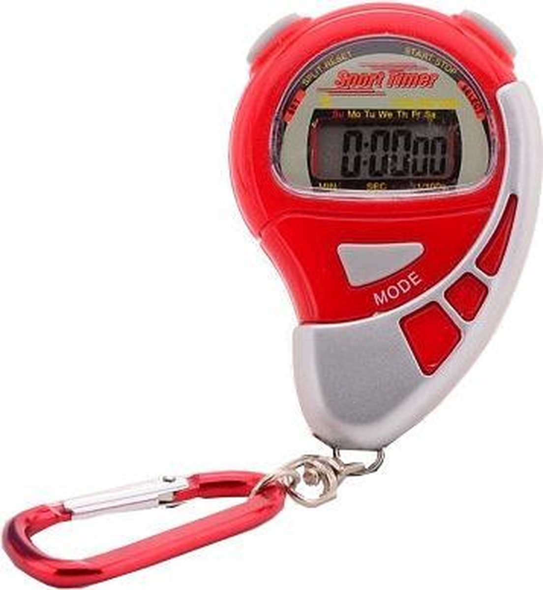 Johntoy Stopwatch Sports Active Met Alarm Rood - Johntoy