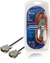 Bandridge BCL1103 3m VGA (D-Sub) VGA (D-Sub) Zwart, Grijs video kabel adapter