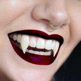 Mikamax – Vampier Tanden – Dracula tanden – Professioneel – Inclusief thermoplastische, hypoallergene lijm