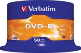 Verbatim DVD-R 4,7GB 50 stuks Spindel