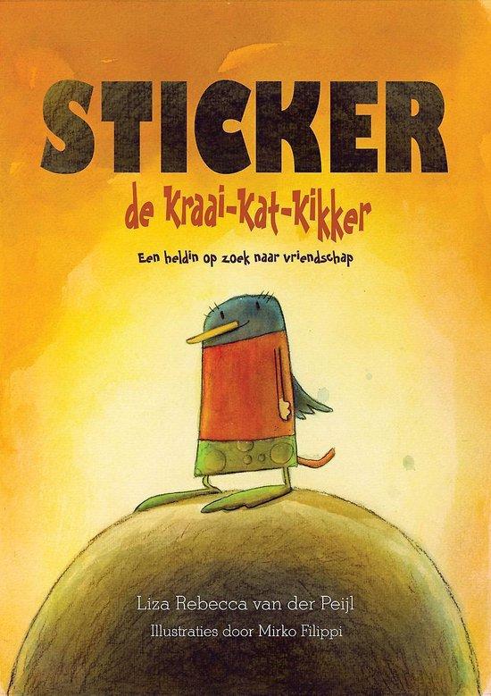 Sticker de kraai-kat-kikker - een heldin op zoek naar vriendschap