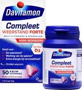 Davitamon Compleet Weerstand Forte met vitamine D - Multivitaminen en mineralen - Kauwtabletten 50 stuks