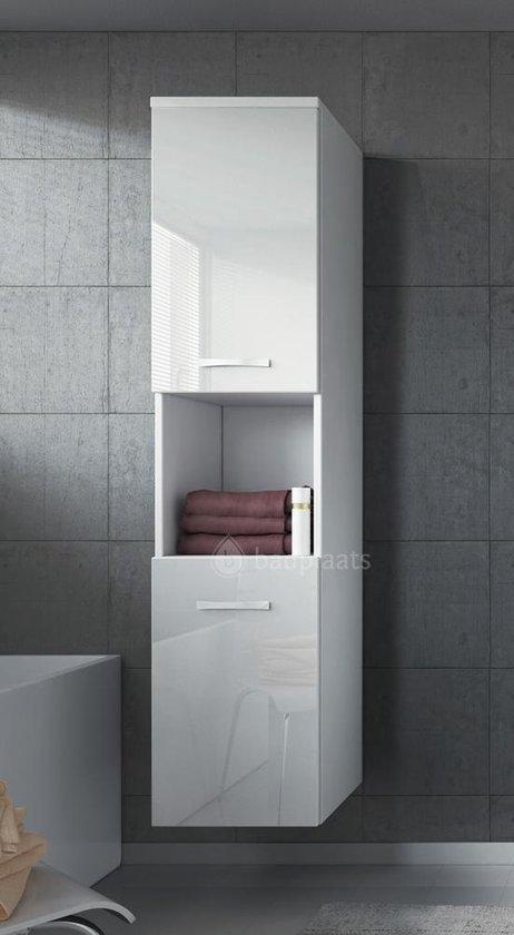 Badplaats - Badkamerkast Montreal 300x300x1315mm - Wit - Kast met twee draaideuren - Badplaats