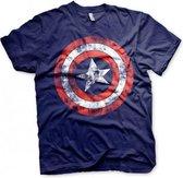 Fun t-shirt Captain America schild heren L