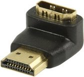 Valueline HDMI-adapter HDMI-connector 90° gehoekt - HDMI input  zwart
