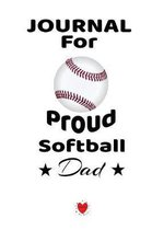 Journal For Proud Softball Dad