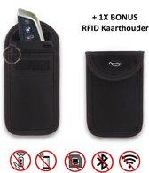 Faraday Kooi Hoesje (1X) + 1X RFID kaarthouder - Autosleutel RFID Antidiefstal - Keyless Entry Go Sleutel Etui - Qwality4u