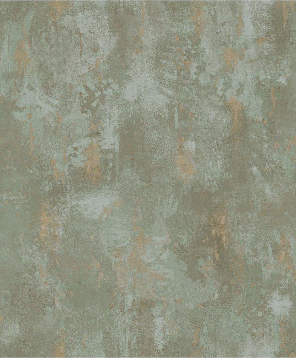 DUTCH WALLCOVERINGS TP1010 - Behang beton groen