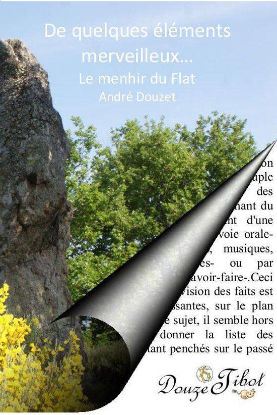 Boek cover De quelques éléments merveilleux...le menhir du Flat van Andre Douzet (Onbekend)