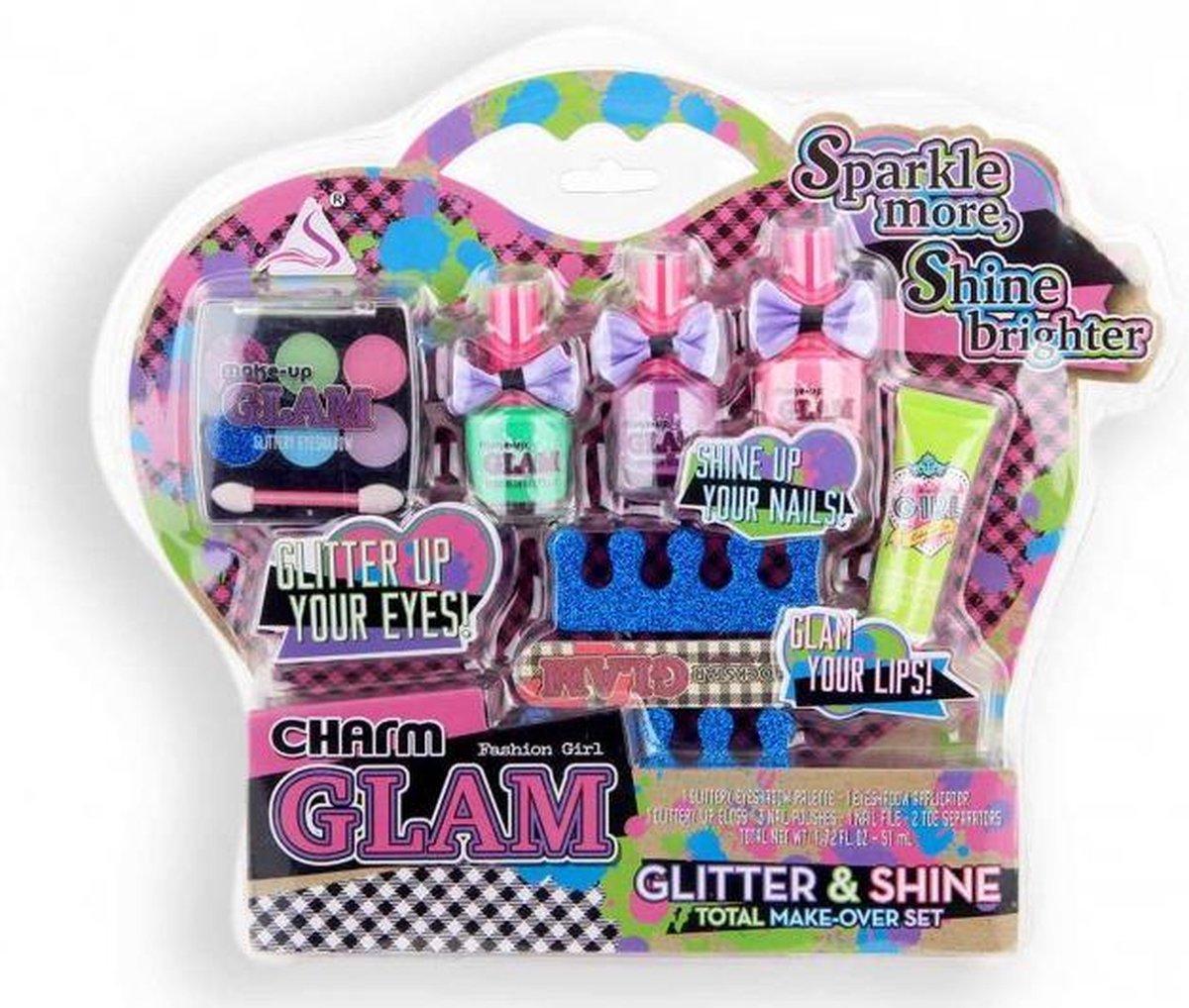 Charm Make-up Set voor Kinderen Kinder Make-up Set  8 Delig