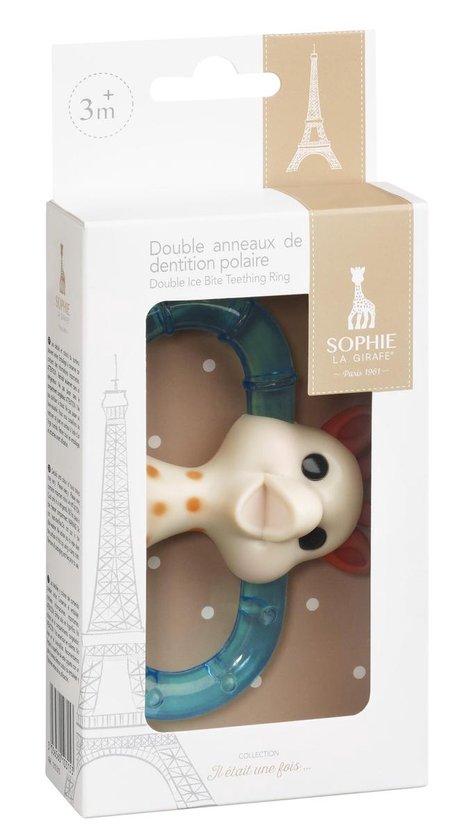 Sophie de Giraf Dubbele Koelbijtring in geschenkdoos