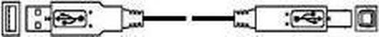 Deltac USB aansluitkabel type 497 USB-kabel 1,8 m USB A Mini-USB B