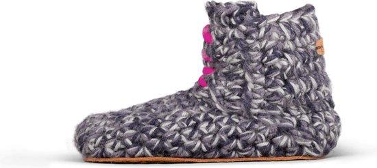 Kingdom of Wow - Pantoffels Kind Meisje Wol Storm Pink Maat 22/23 - Duurzaam en Eerlijk Gemaakt
