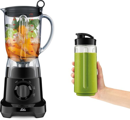 Solis Mix & Go Blender 8324 - Incl. handige drinkbeker - Zwart