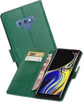 Zakelijke Bookstyle Hoesje Galaxy Note 9 Groen