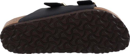 Dames schoenen   Birkenstock Arizona Slippers Zwart Gouden Gesp