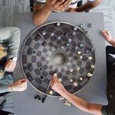 MikaMax Chess For Three - Bordspel - Schaakbord voor 3 Personen - Schaakset - Schaakspel - ø 55CM