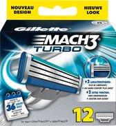 Gillette Mach3 Turbo-12 stuks-scheermesjes