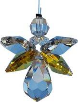 Geluksengel van Swarovski kristallen Topaz ( Raamkristal , Raamhanger ,  Regenboogkristal )