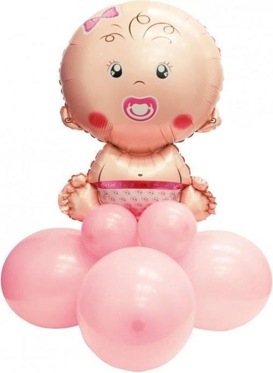 Pegaso Ballonnen-set Baby Meisje 90 Cm Roze