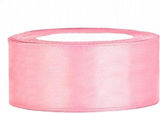 Roze Satijn Lint 25mm