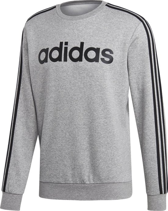 Adidas Essentials 3-Stripes Sweater Grijs Heren