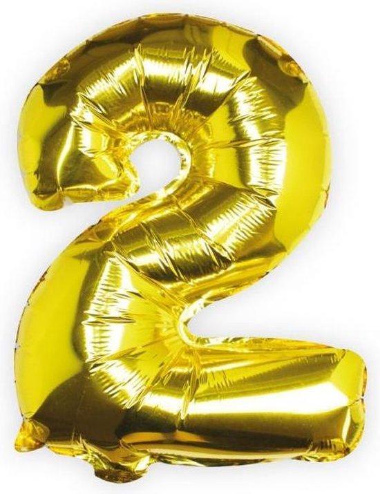Ginger Ray Pick & Mix - Folieballon cijfer 2 - goud
