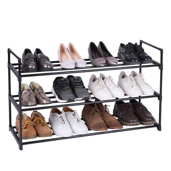 Praktisch Schoenenrek voor 15 Paar Schoenen - Metaal - Zwart