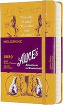 Moleskine Agenda - 12 Maanden -  Limited Edition  - alice in wonderland - Dagelijks - Pocket (9x14cm) - Geel