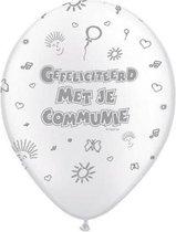 8 stuks Eerste Communie ballonnen 30 cm