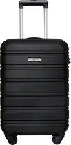 Globeless - handbagage koffer - TSA slot - 55x35x20cm - IATA standaard trolley - Zwart
