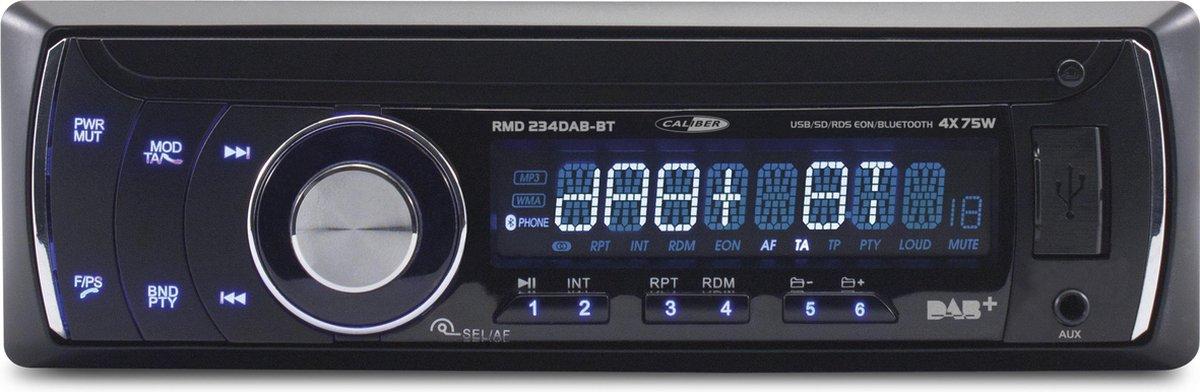 Caliber RMD234DAB-BT - Autoradio met bluetooth - DAB+ - Zwart - Caliber